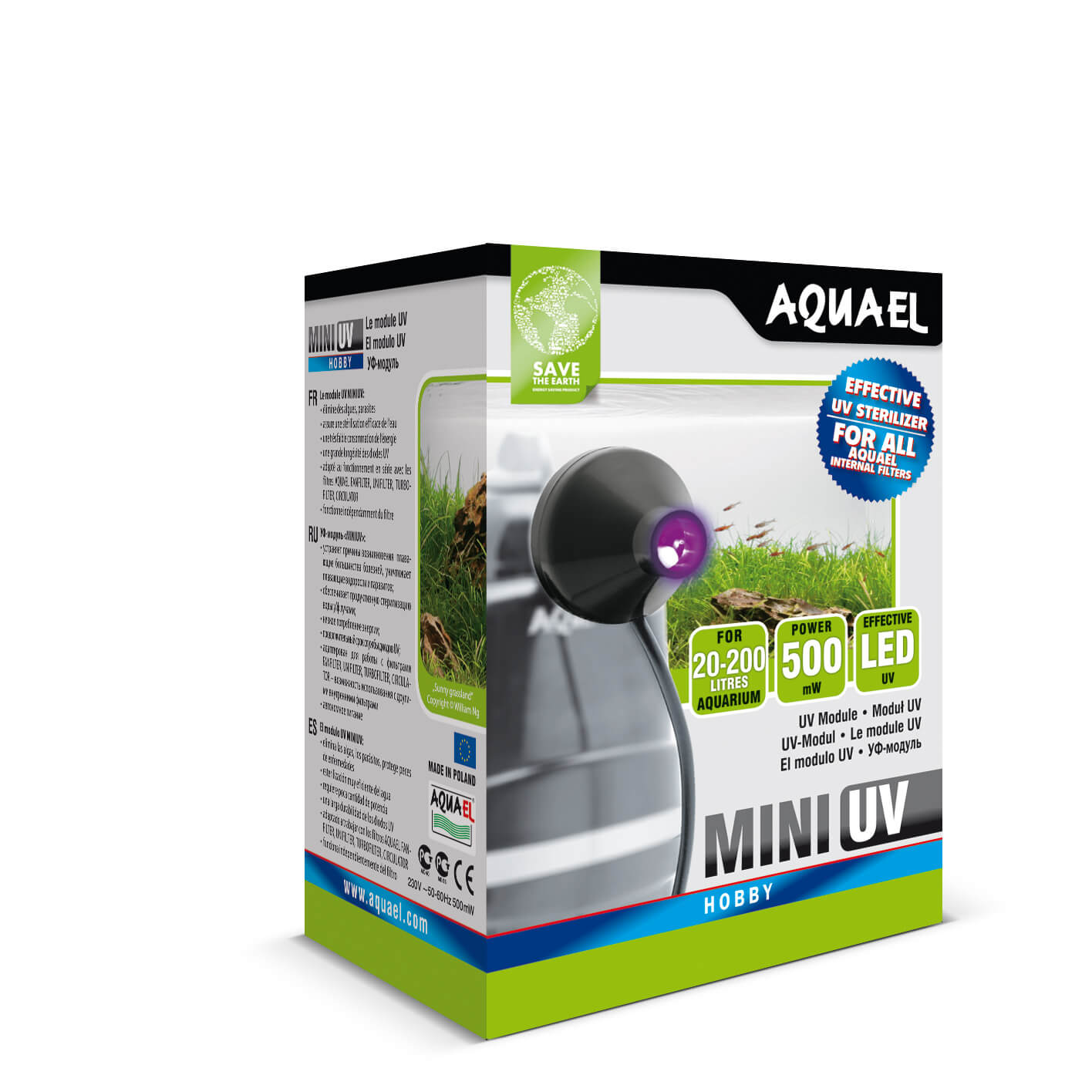 Aquael Mini UV (For Fan Filters, Turbo Filters, Unifilter's,